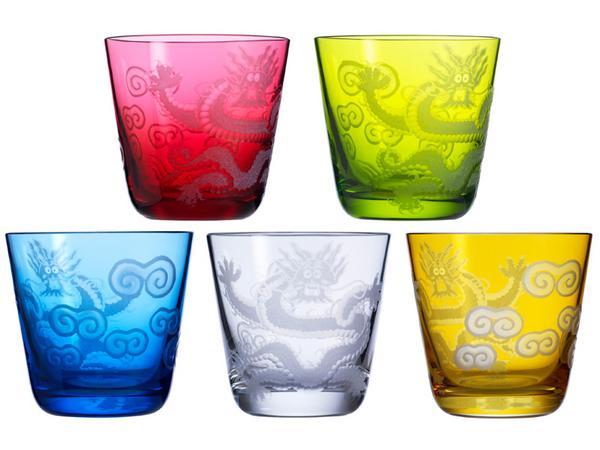 """Rotter Glas Drachenbecher """"Ignis Nr. 90"""", Größe M"""