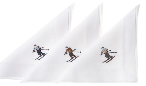 """Eri Textiles Leinentischwäsche """"Skifahrer"""""""