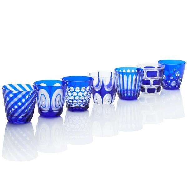 Rotter Glas Blaue Becher, Größe M
