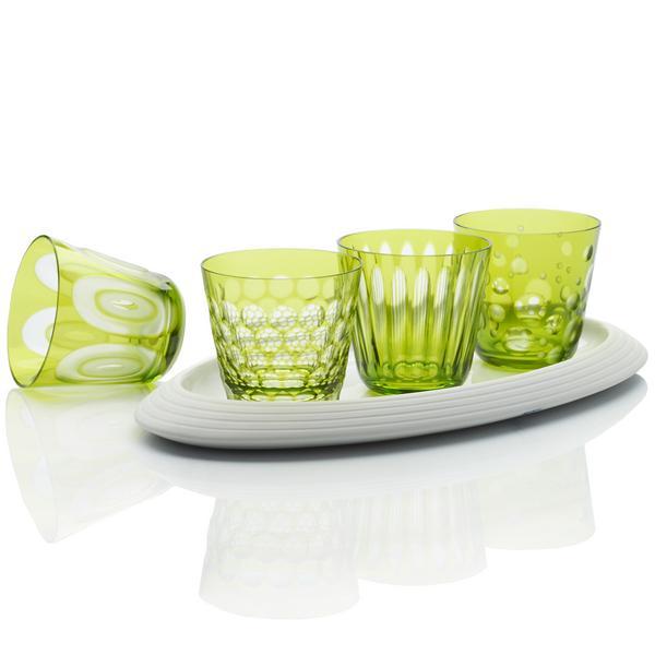 Rotter Glas Hellgrüne Becher, Größe M