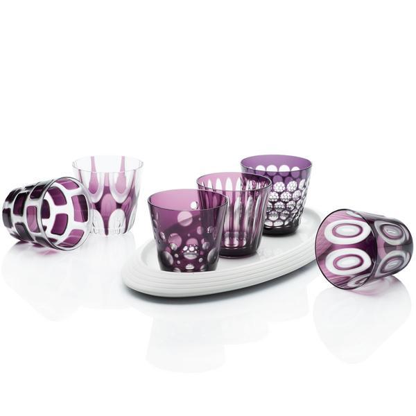 Rotter Glas Violette Becher, Größe M