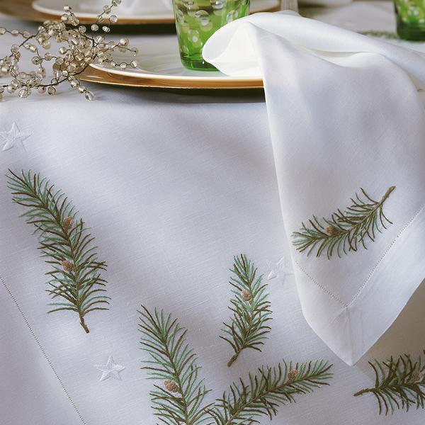 """Eri Textiles Leinentischwäsche """"Weihnachtszweige"""""""
