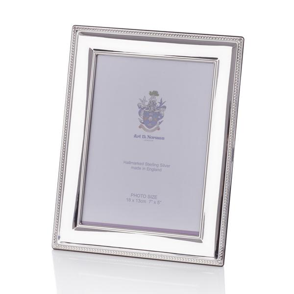 Beaded Sterling silver picture frames | Artedona.com