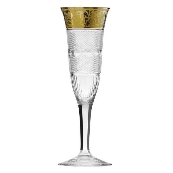 """Moser """"Splendid Gold"""" Champagne flute"""