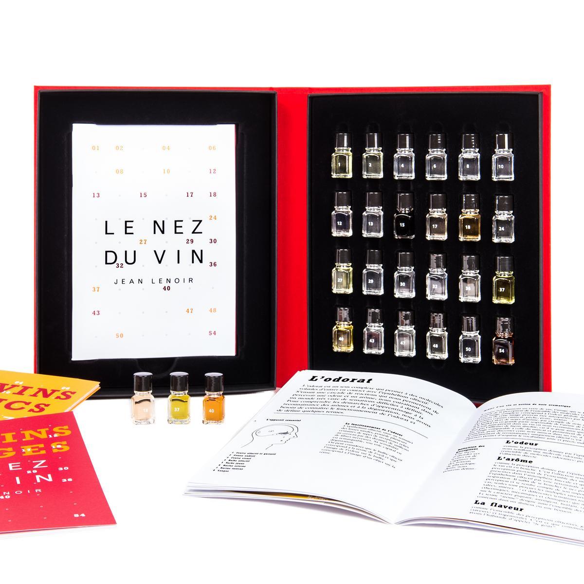 Le Nez du Vin 24er-Set mit je 12 Rot- & Weißwein Aromen