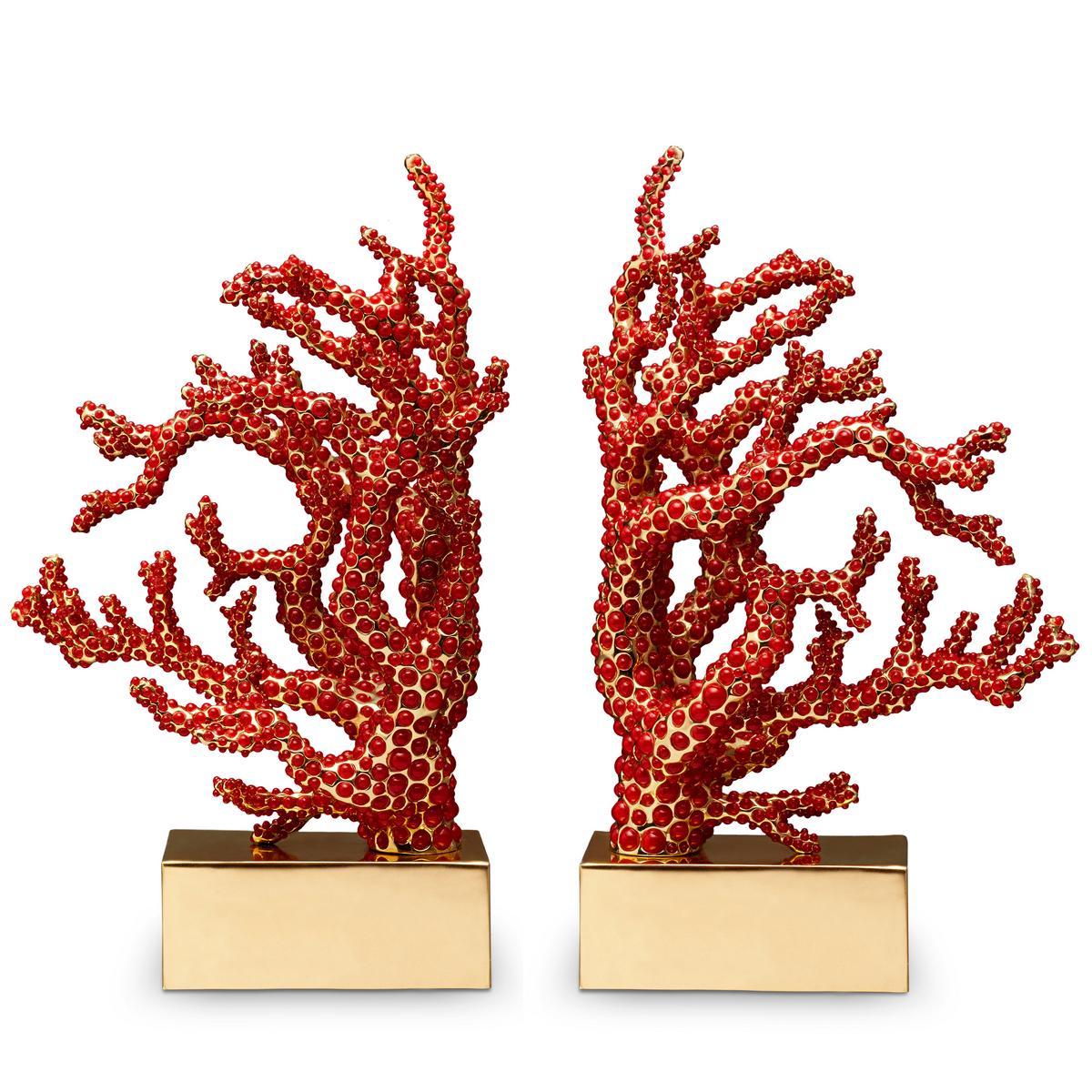 """Buchstützen """"Coral"""""""