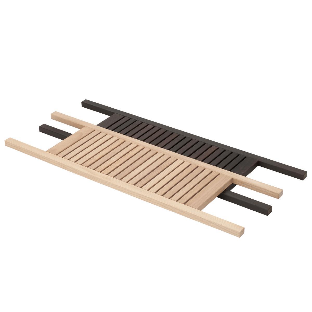 Decor walther wood bath trays for Decorative bathroom tray