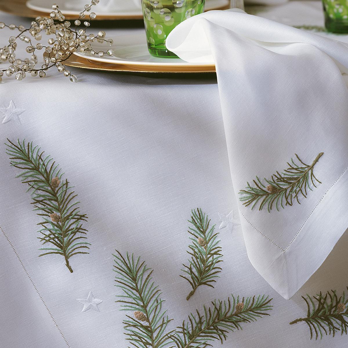 """Leinentischwäsche """"Weihnachtszweige"""""""
