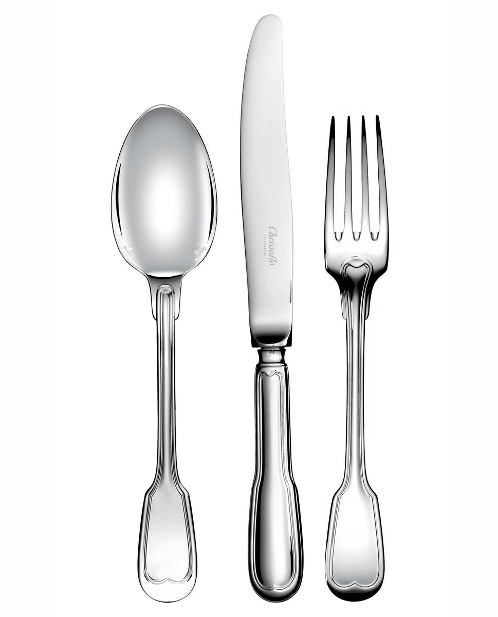 christofle chinon cutlery silverplated. Black Bedroom Furniture Sets. Home Design Ideas