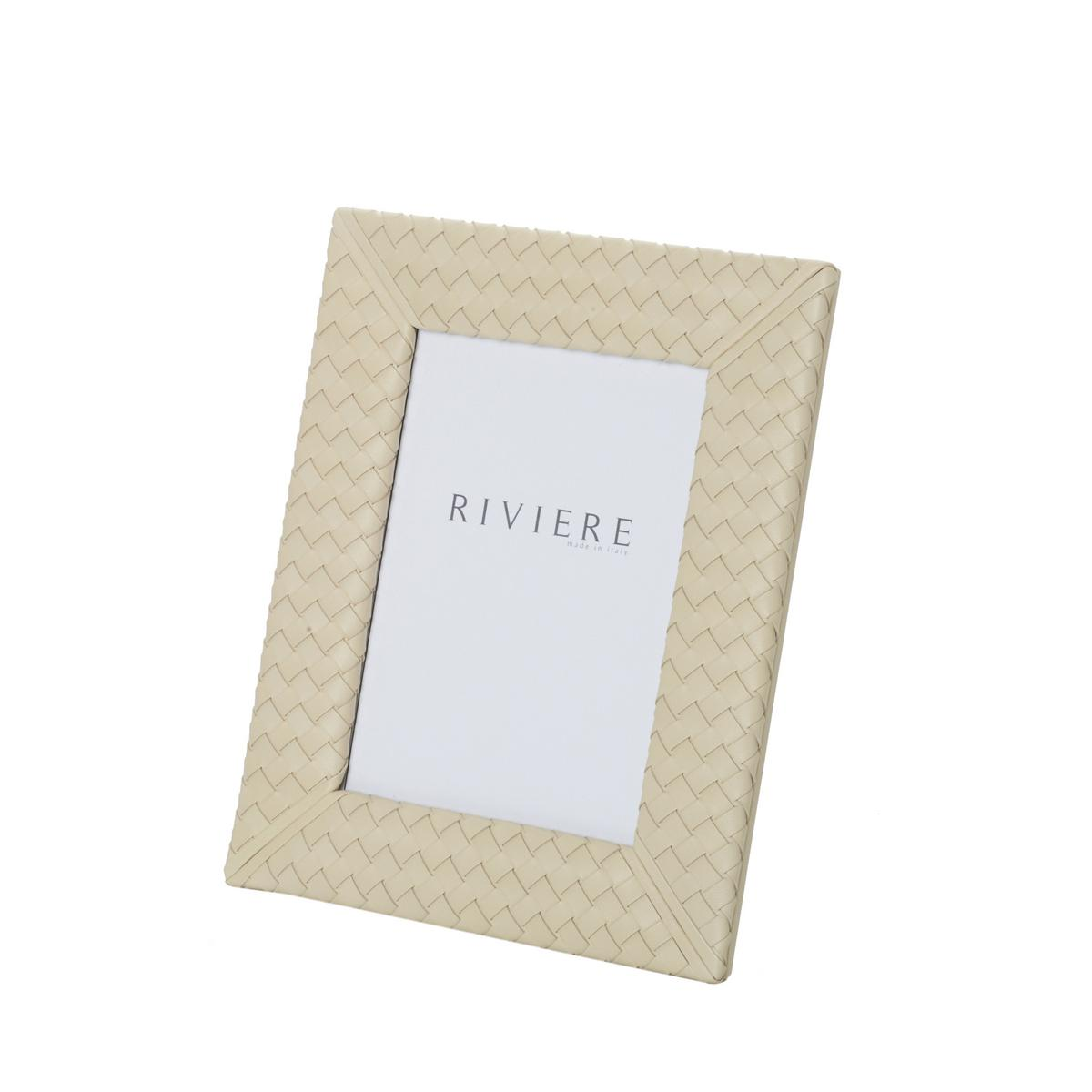 Riviere Milano leather frame, ivory, photo size 13 x 18 cm (5\'\' x 7 ...