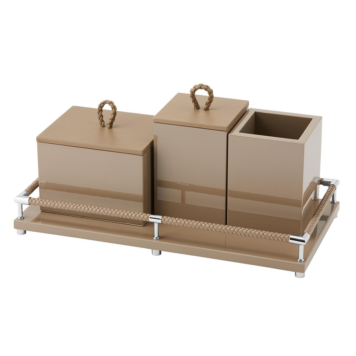 Riviere Vanity 4 Pieces Bathroom Set Taupe