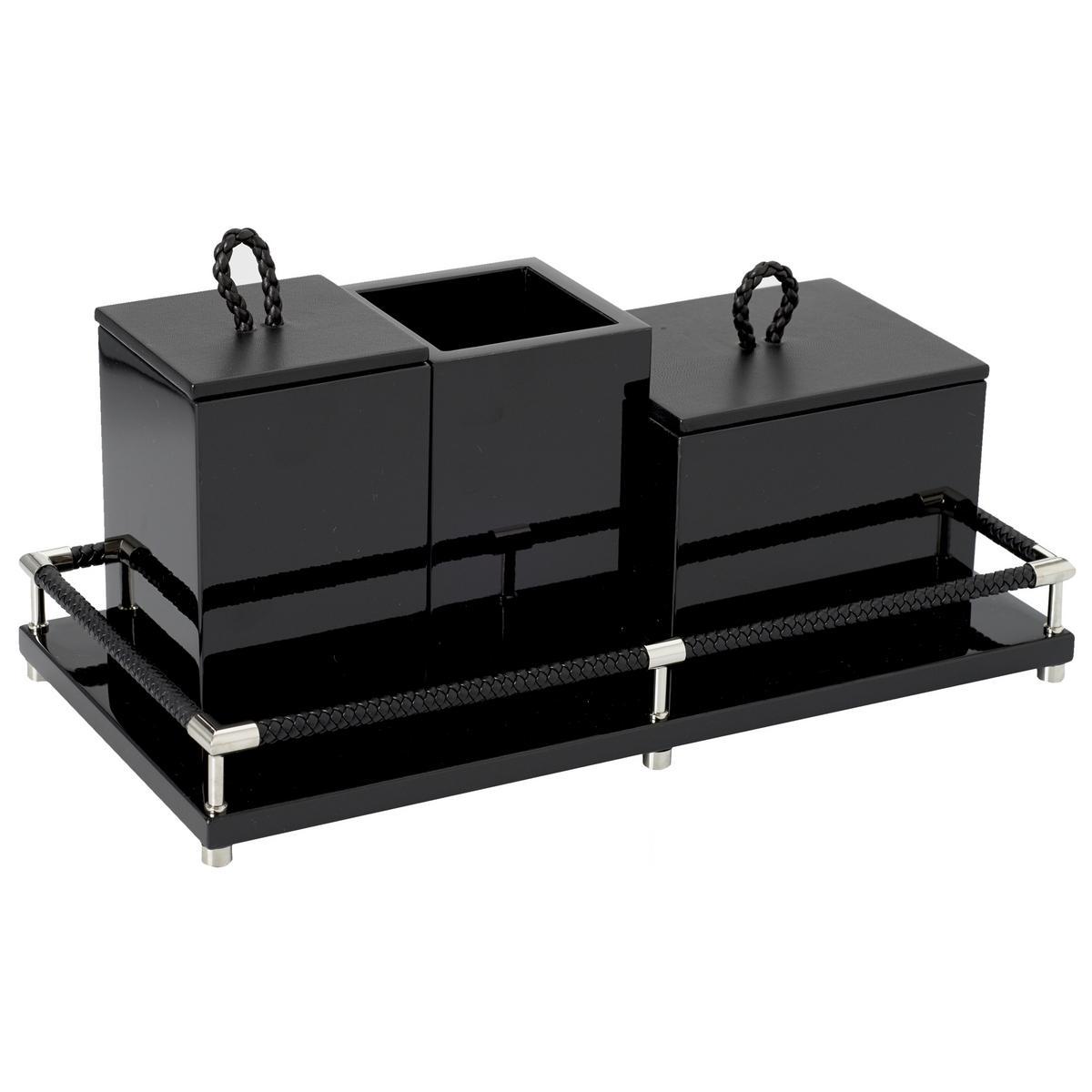 riviere vanity 4 pieces bathroom set black. Black Bedroom Furniture Sets. Home Design Ideas