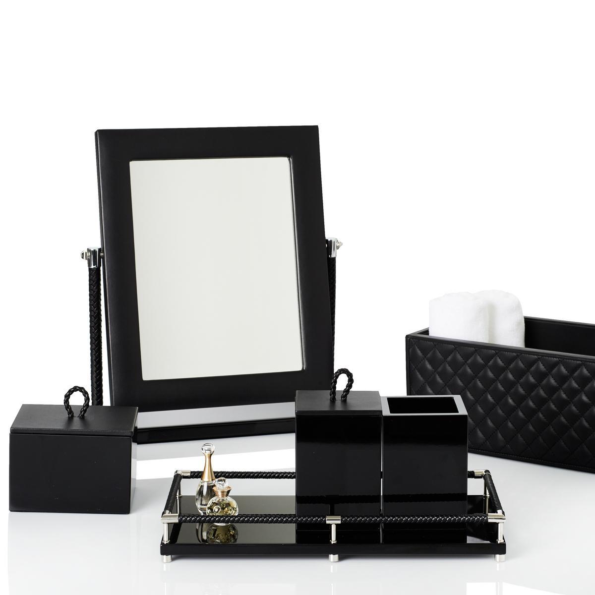 Bathroom Accessories Black riviere vanity bathroom accessories, black | artedona