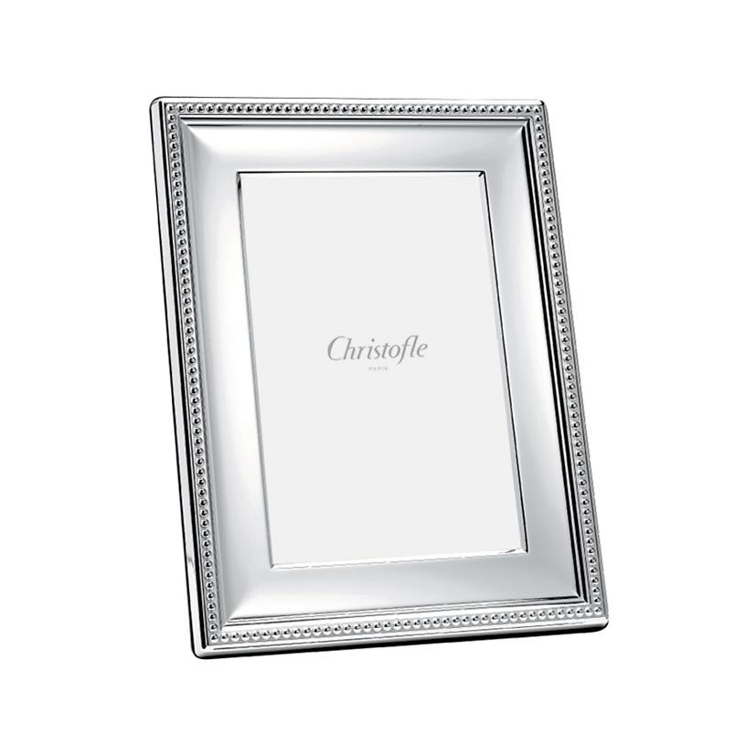 christofle perles picture frame silverplated photo size 9 x 13 cm 3 5 39 39 x 5 39 39. Black Bedroom Furniture Sets. Home Design Ideas