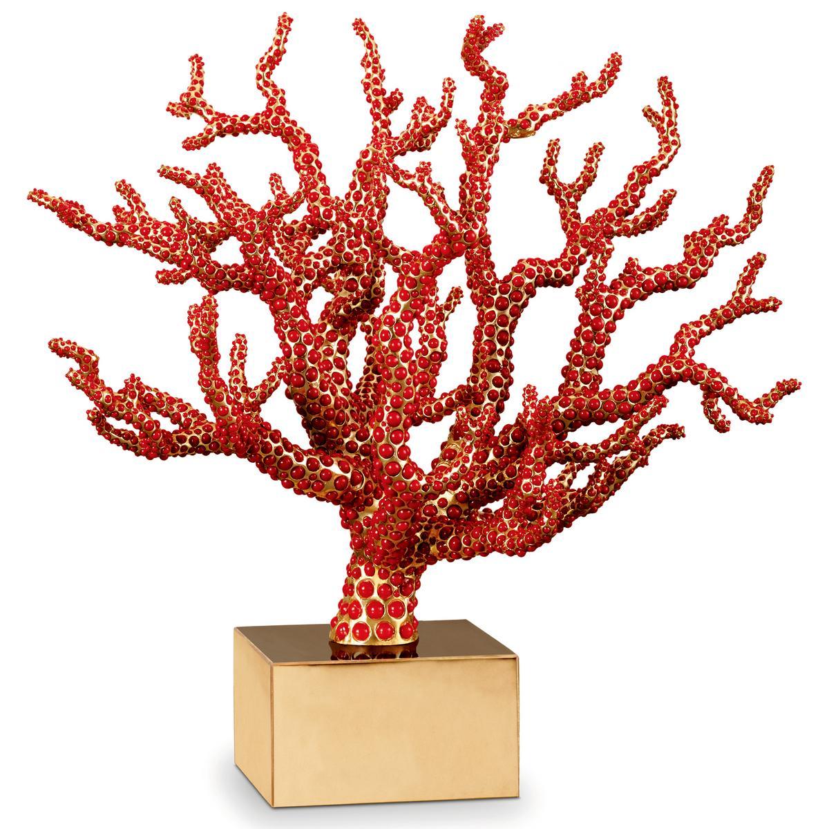 L 39 objet coral centrepiece for Objet decoration design contemporain