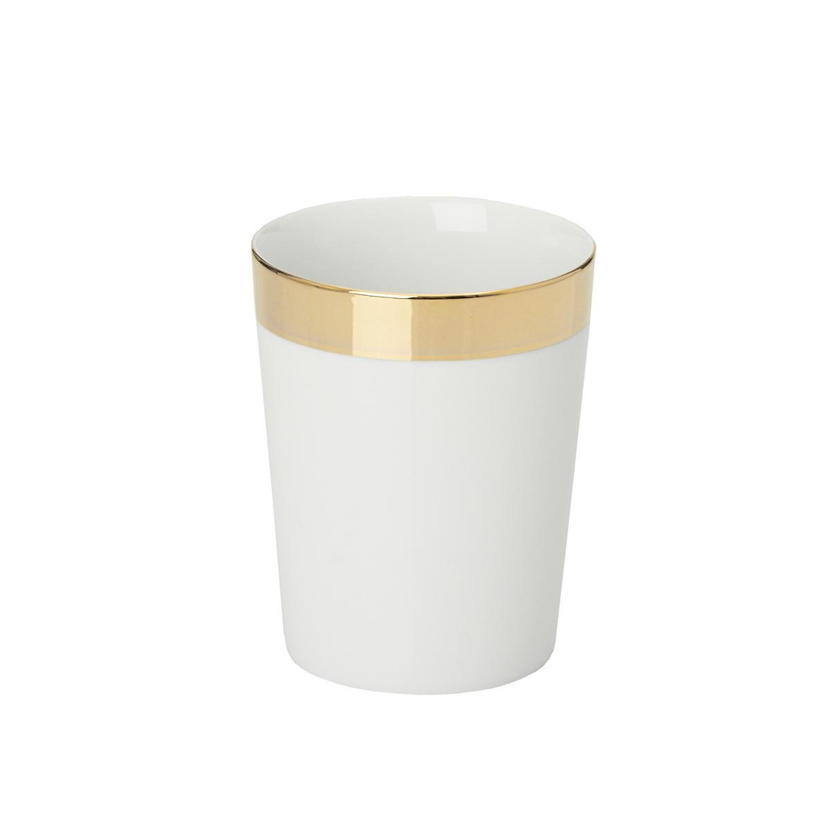 Decor walther porcelain bathroom tumbler gold for Bathroom tumbler