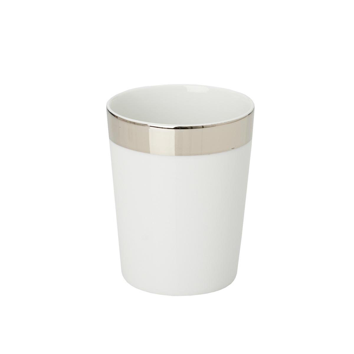 Decor walther porcelain bathroom tumbler platinum for Bathroom tumbler