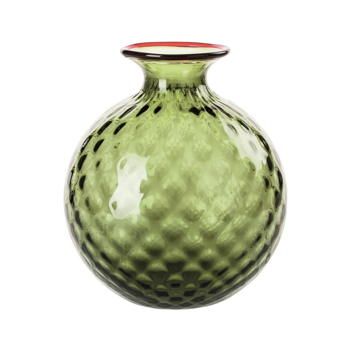 Venini Monofiori Balloton Vase Small Apple Green Artedona