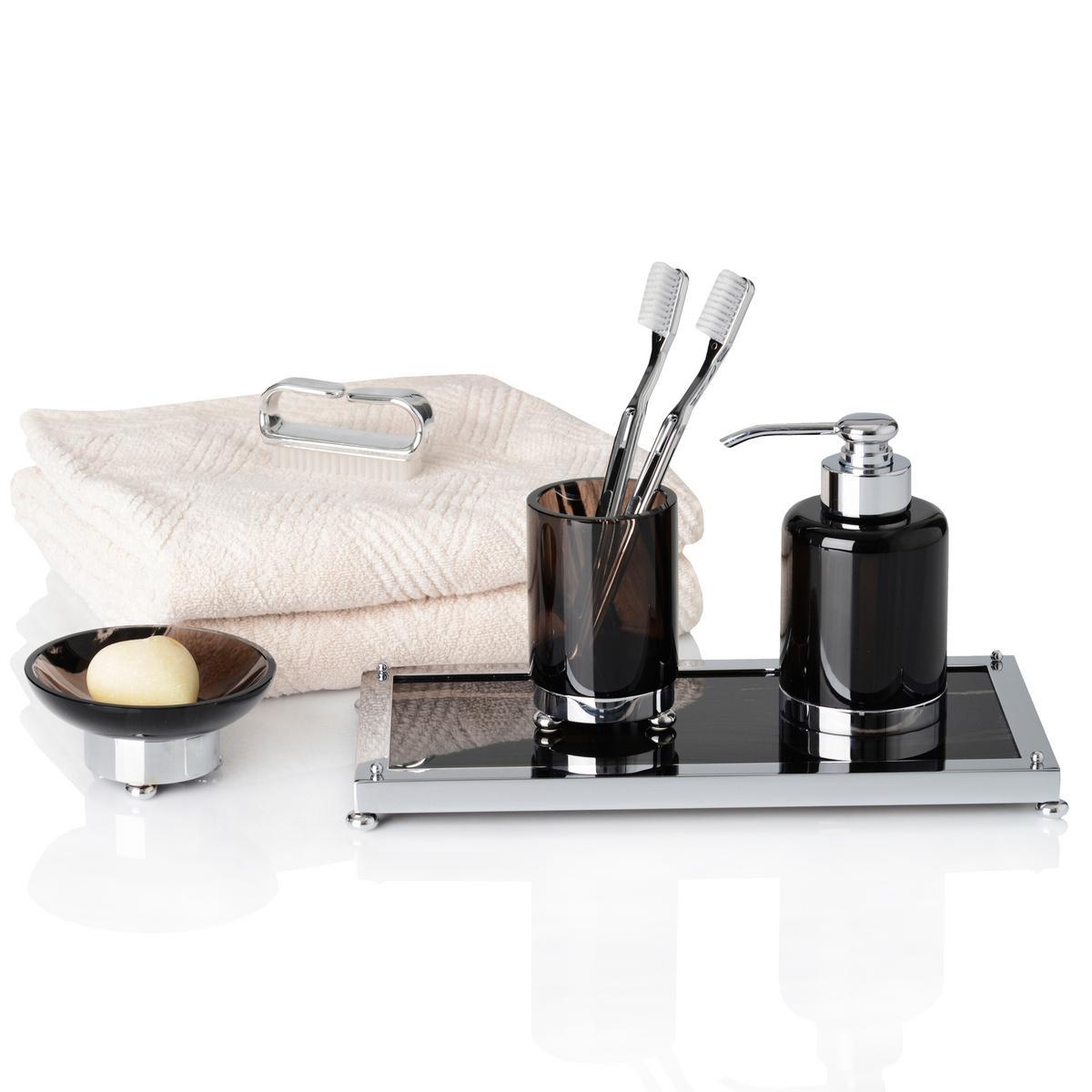 cristal et bronze obsidian bathroom accessories. Black Bedroom Furniture Sets. Home Design Ideas