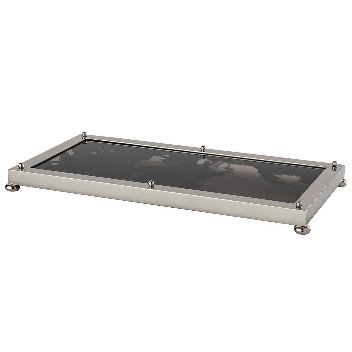 cristal et bronze obsidian tray chrome. Black Bedroom Furniture Sets. Home Design Ideas