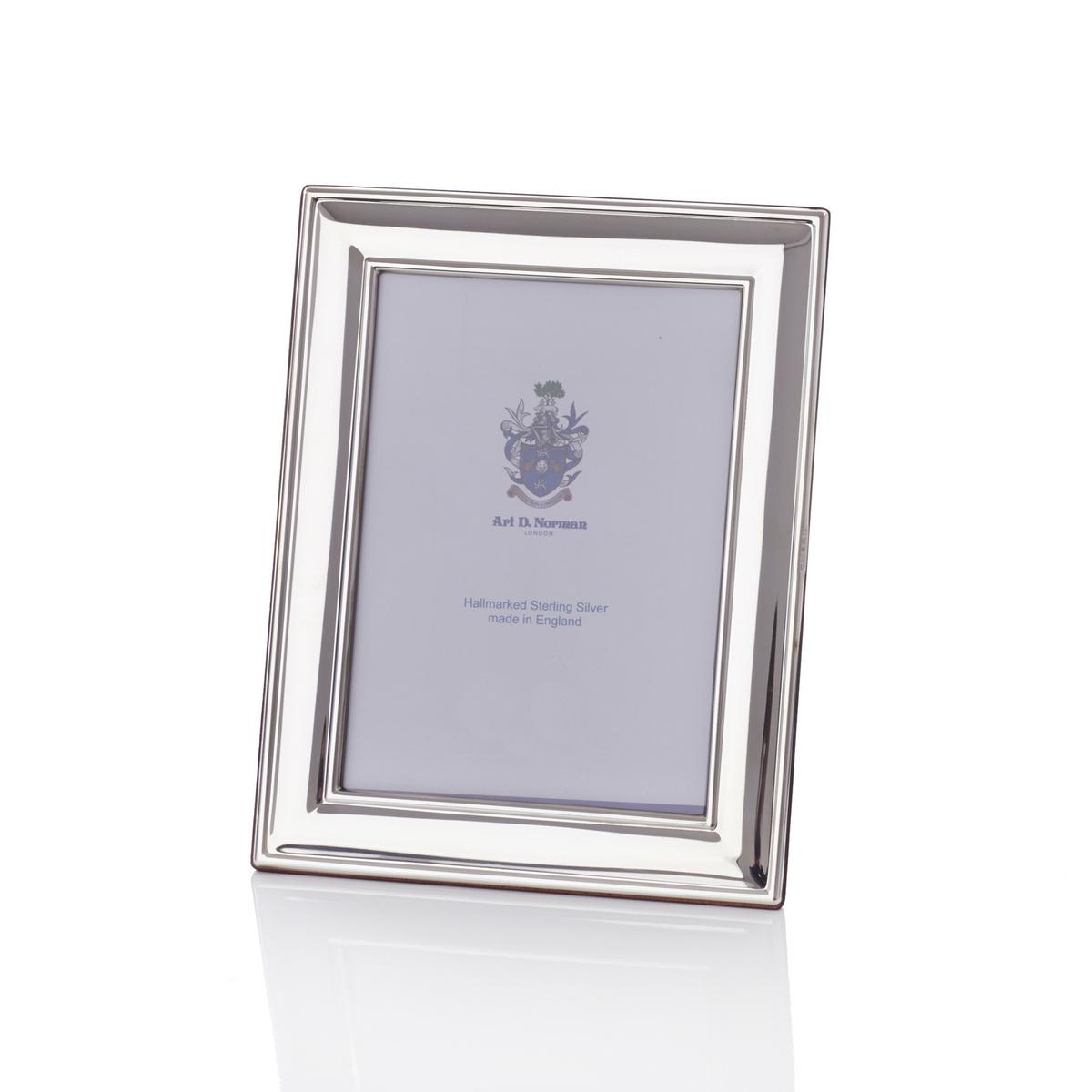 Classic Sterling silver picture frame, approx. 9 x 13 cm (3.5\'\' x 5 ...