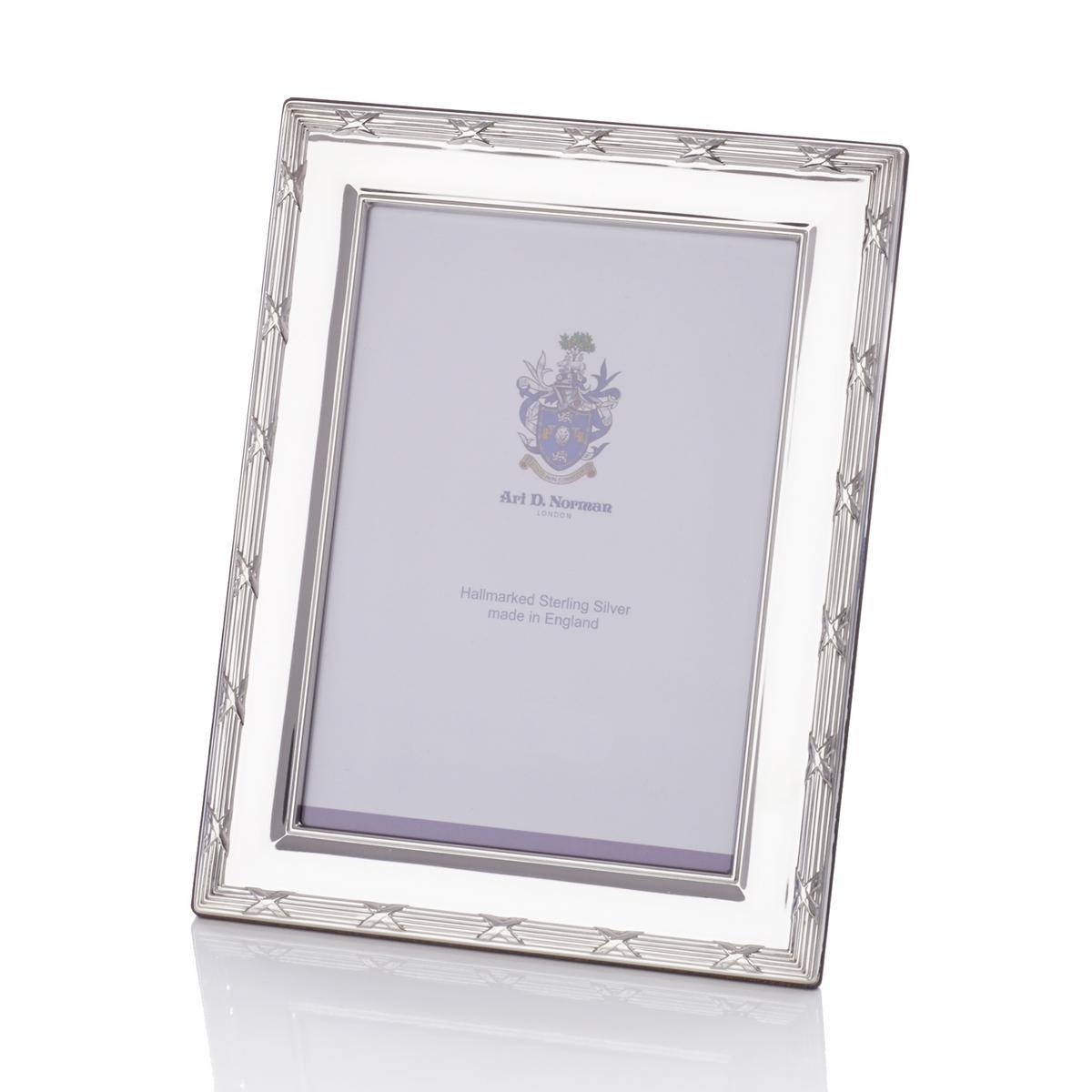 Ribbon & Reed Sterling silver picture frame, approx. 13 x 18 cm (5 ...