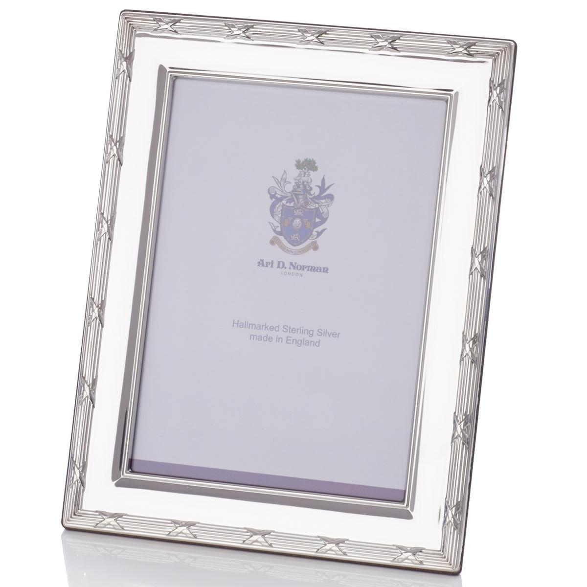 Ribbon & Reed Sterling silver picture frame, approx. 20 x 25 cm (8 ...