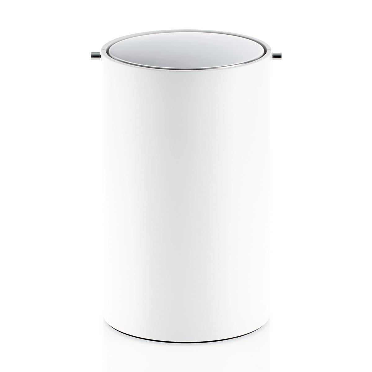White Bathroom Bin decor walther stone bathroom bin with revolving cover | artedona