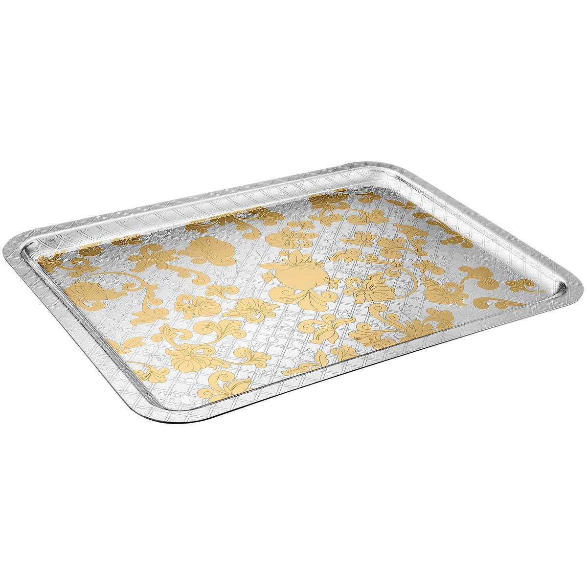 Christofle jardin d 39 eden tray partially gilded for Jardin d eden