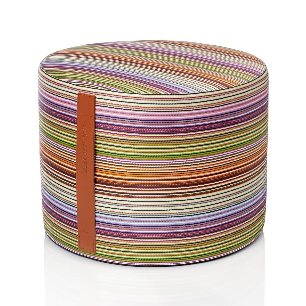 Missoni Home Jenkins Pouf Violet Stripes Artedona Com