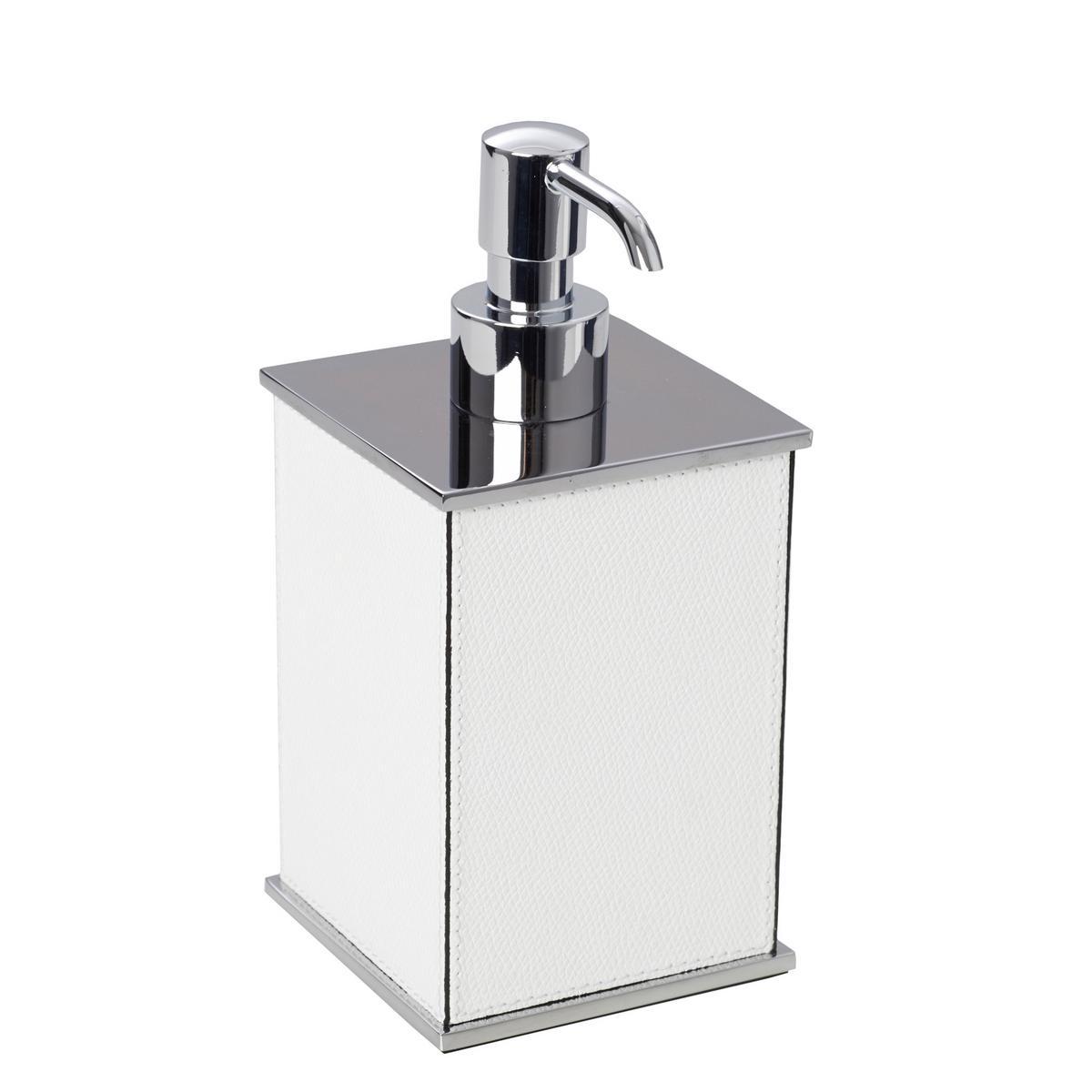 Firenze Soap Dispenser Chrome White