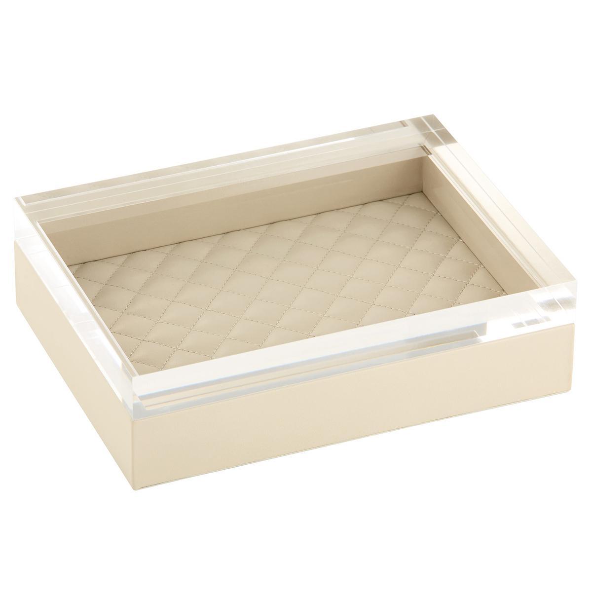 Acrylic Box Lid : Riviere leather boxes with acrylic lid artedona