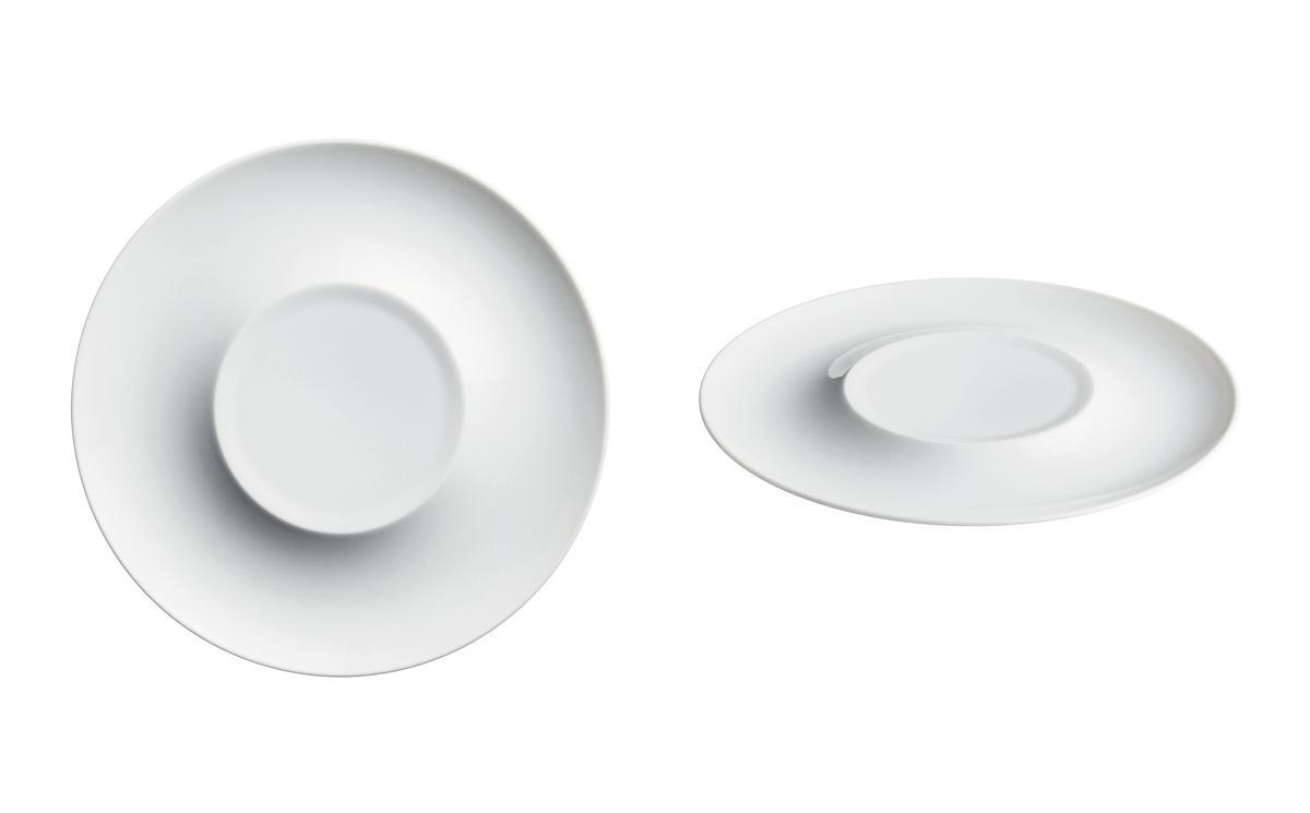raynaud lunes teller rund 30 cm mit rundem spiegel 14 cm porzellan. Black Bedroom Furniture Sets. Home Design Ideas