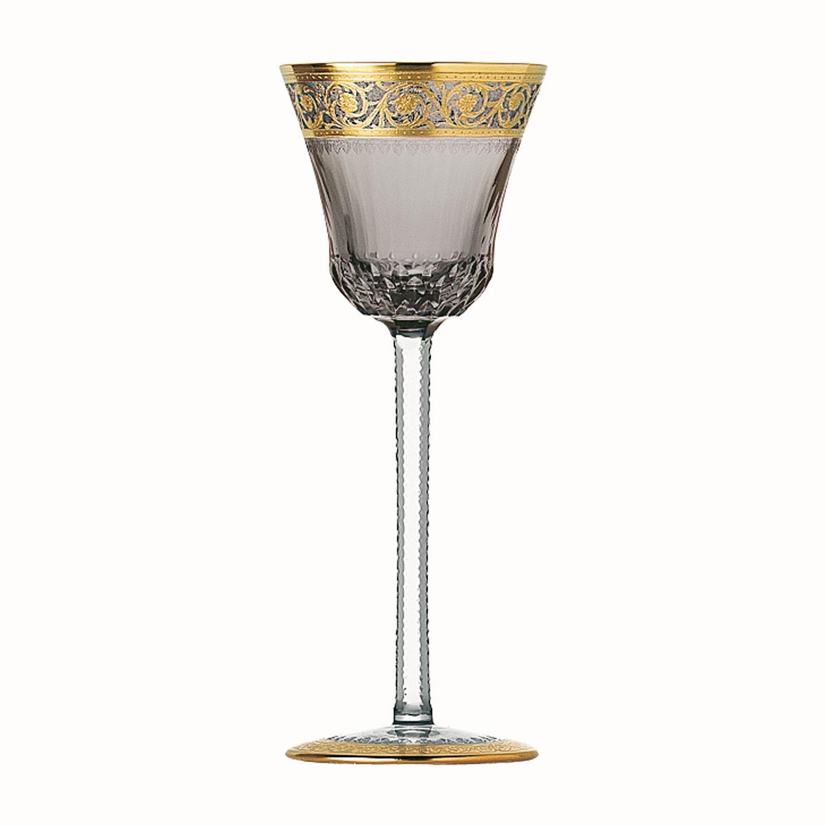 saint louis thistle gold hock glasses. Black Bedroom Furniture Sets. Home Design Ideas