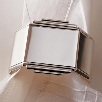 """Art Deco"" napkin rings"