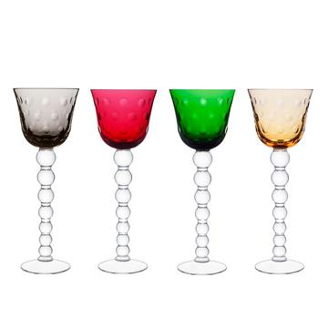 """Bubbles"" hock glasses"