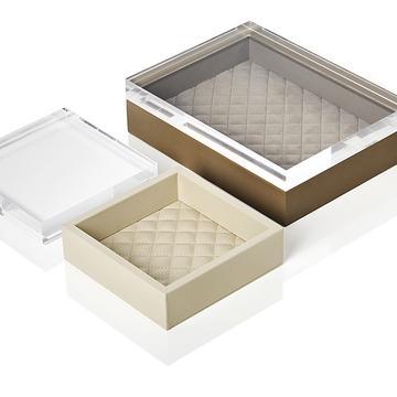 Lederboxen mit Acryldeckel