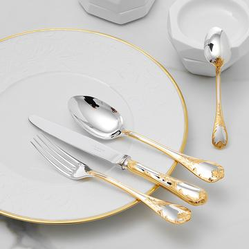 """Marly"" cutlery, silverplated with gold accents"