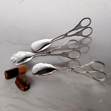 Silverplated pastry tongs