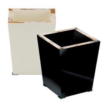 """""""Horn & Lacquer"""" waste paper baskets"""