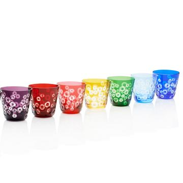 """Floating Circles no. 156"" tumblers, size M"