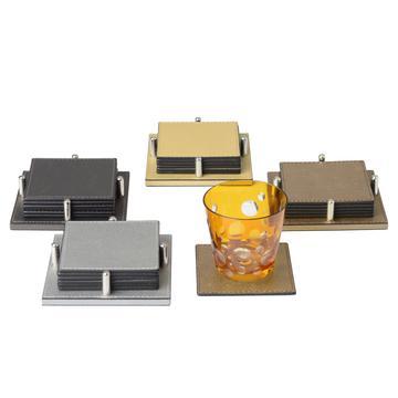 "Quadratische Glasuntersetzer ""Metallic"""