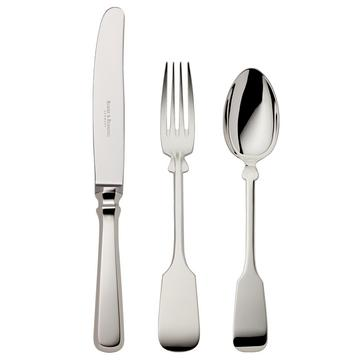 """Fiddle"" cutlery, silverplated"