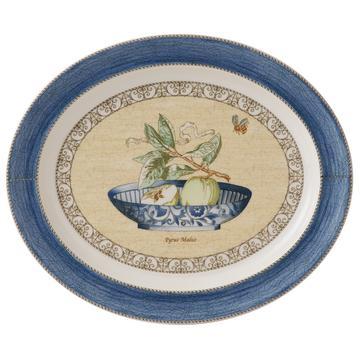 """Sarah's Garden"" Platte oval, blau"
