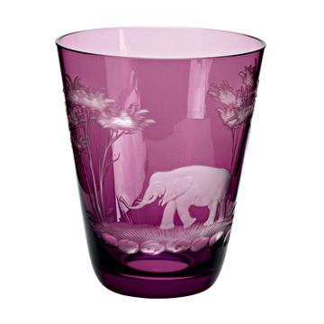 """Becher """"Kilimandscharo"""" violett, Schliff Elefant"""