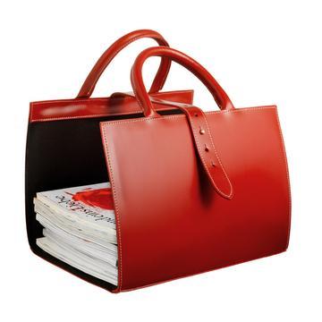 """Pyrenees"" magazine holder, red"