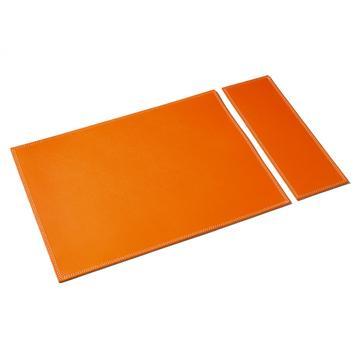 "Lederset ""Duo"", orange"