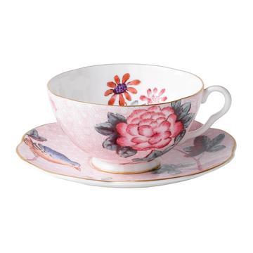 """""""Cuckoo"""" Teetasse mit Unterteller, rosa"""