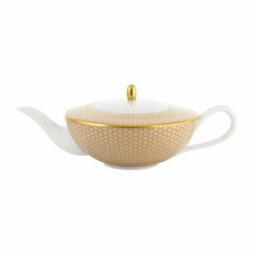"""""""Trésor"""" Kaffee-/Teekanne, Wabenmuster, orange"""