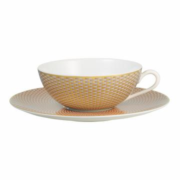 """""""Trésor"""" Teetasse mit Unterteller, beige"""